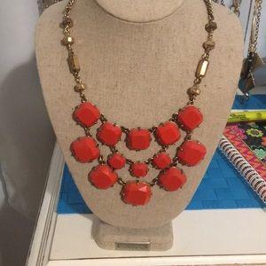 Stella and Dot Orange Necklace